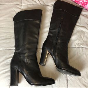 Halogen Brianna black tall heel boots size 10m